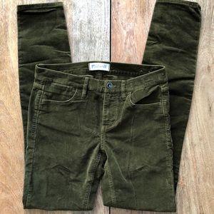 Madewell Green Corduroy Skinny jeans